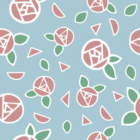 Seamless pattern of roses illustration background