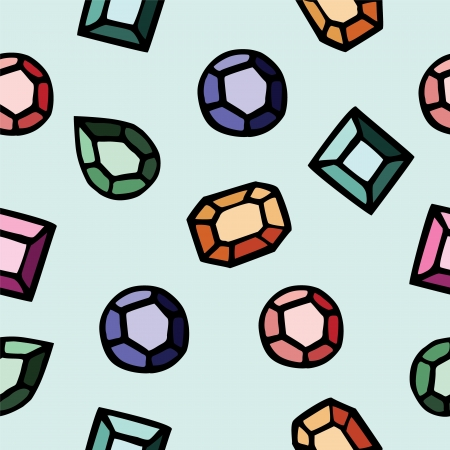 Seamless pattern of colorful diamond illustration background Illustration