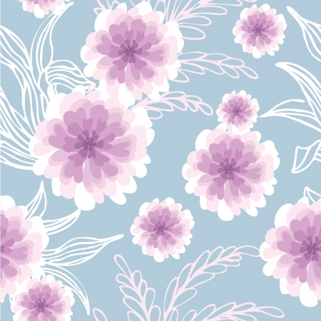 Seamless pattern of flower background, Vector illustration