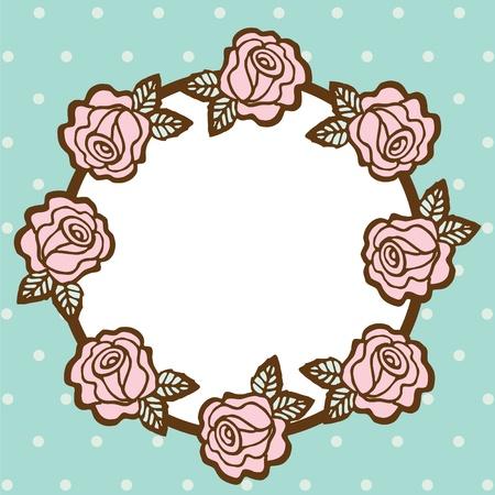 bordures fleurs: Cadre de fleur sur un espace vide, illustration