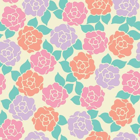Seamless pattern of  roses flower,  illustration background 일러스트