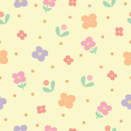 Seamless pattern of flowers background