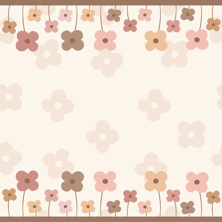 Frame of flowers with empty space
