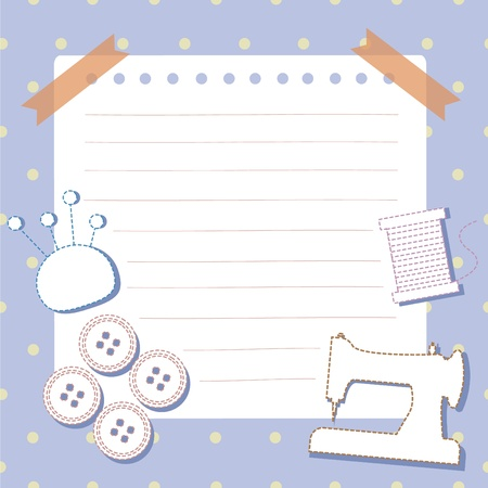 coser: Costura s�mbolo herramientas con espacio para el texto