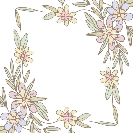 Flowers frame background