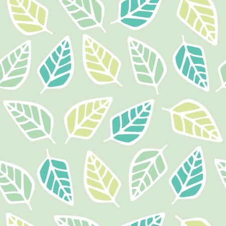 Seamless pattern of leaf cartoon background, Vector illustration
