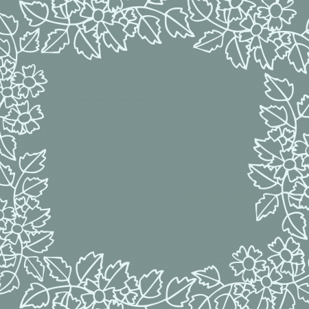 Frame of flower on empty space, Vector illustration