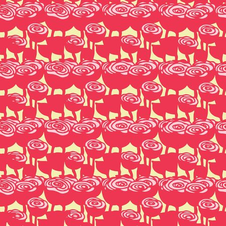 Seamless pattern of rose flower, Vector illustration background
