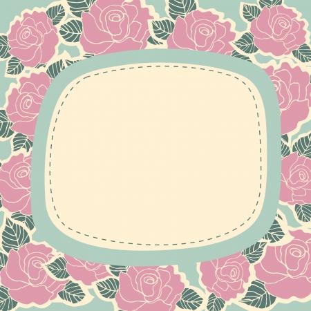 Flowers frame background , vector illustration