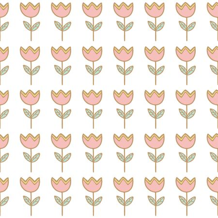 Seamless tulip flower background pattern , Vector illustration