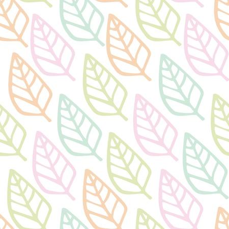 Seamless pattern of leaf  background, Vector illustration