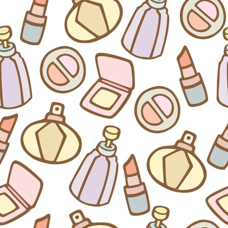 Seamless pattern background of cosmetics, Vector illustration Illustration