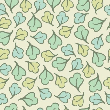 Seamless pattern of leaf cartoon background, Vector illustration