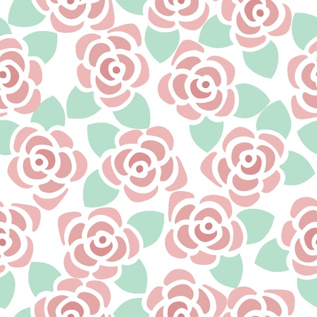 Seamless pattern background of cute flowers, Vector illustration