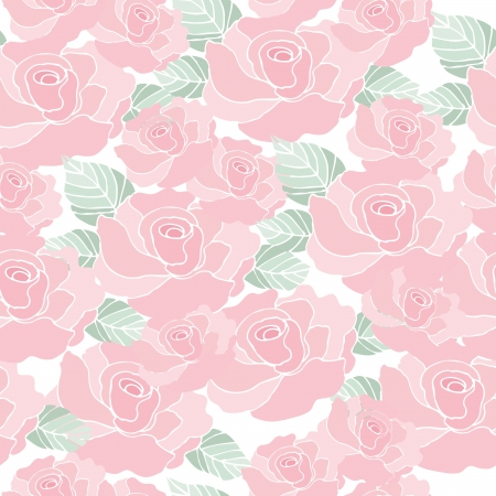 Seamless pattern background of vintage style roses flower, Vector illustration 일러스트