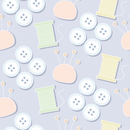 Seamless pattern background of sewing tools, Vector illustration Vector