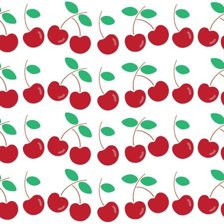 Seamless pattern of cherry.
