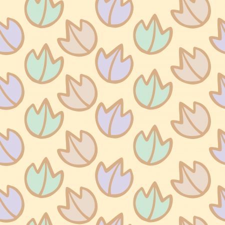 Seamless pattern of colorful leaf