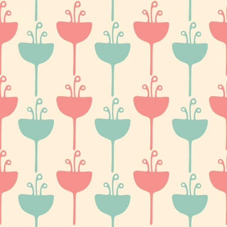 Seamless tulip flower background pattern Illustration