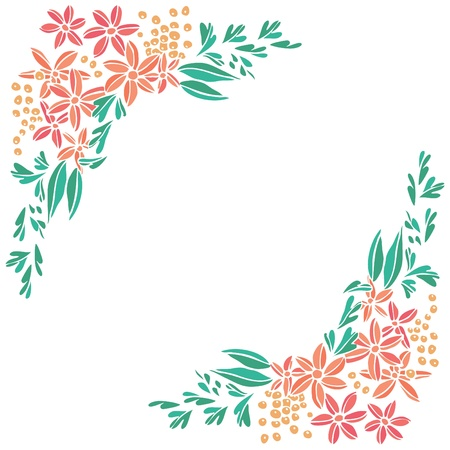 Flowers frame background. 일러스트