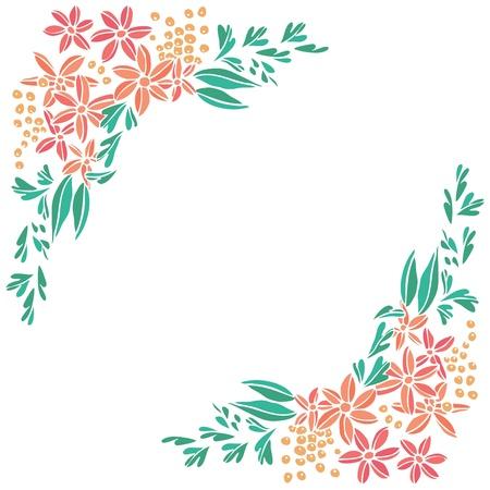 Flowers frame background. Illustration