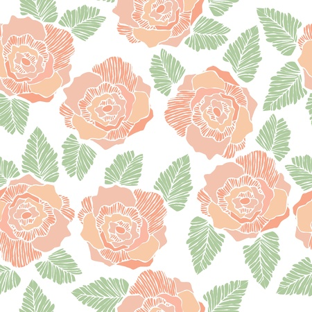 Seamless background pattern of rose flower.