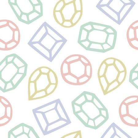 Seamless Pattern Of Diamond Shape Cartoon, Illustration Background Illustration
