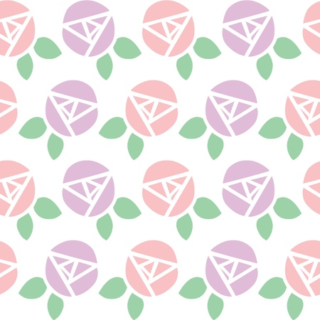 Seamless background pattern of rose flower