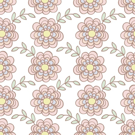 Seamless pattern of flower background