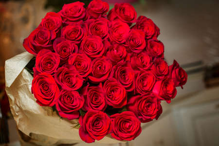 Bouquets of beautiful roses Imagens