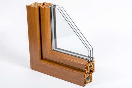 Plastic window profile with triple glazing Reklamní fotografie