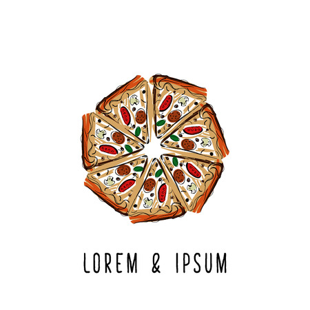 margherita: Pizza logotype. Suitable for  pizzerias