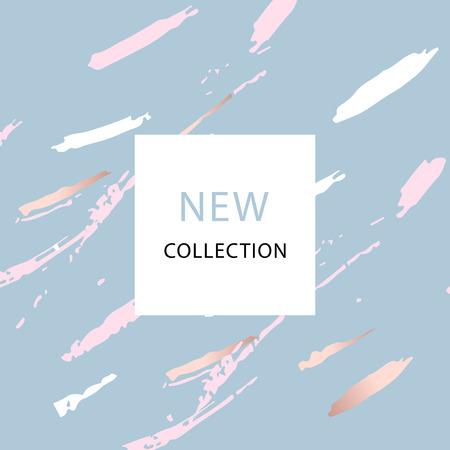 Reihe von New Collection Mode-Header mit Gold und Pastell erröten.