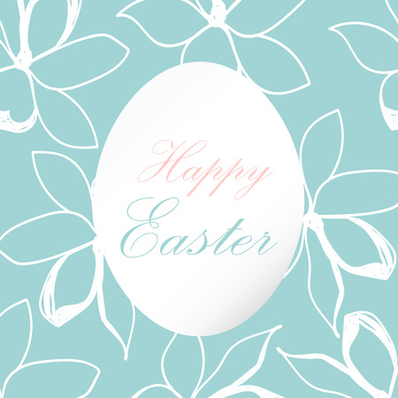 Beautiful happy easter floral greeting card cute decorative beautiful happy easter floral greeting card cute decorative background for wedding invitations greeting cards m4hsunfo