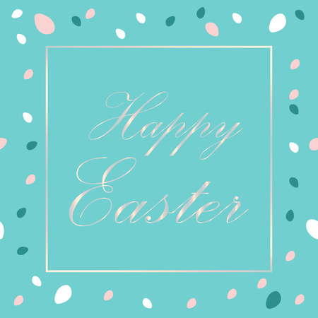 Creative Elegant header with Easter eggs pattern trendy background for advertising, social media, web design, etc. Vector Illustration