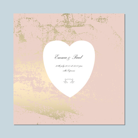 Set of Trendy Elegant Pink Gold Cards for wedding invitations, greeting card, banner, birthday, advertising, valentine s day, party. Chic background for your design made in vector