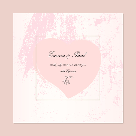 Trendy Elegant Pink Gold Cards. Chic background for your design made in vector