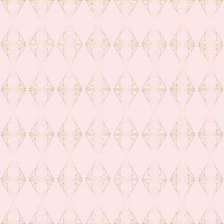 Geometric hipster pattern with gold triangular elements.