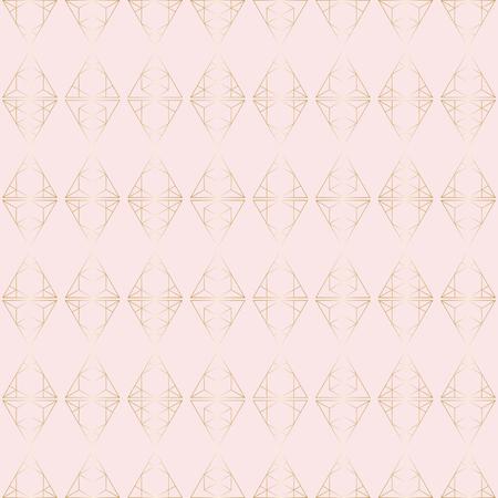 Patrón geométrico hipster con elementos triangulares de oro.