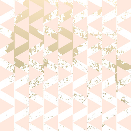 Geometric hipster abstract chevron pattern with gold triangular elements. Trendy chic golden background design for wedding, invitations, birthday, save the date, anniversary, fashion banners, web design, business card