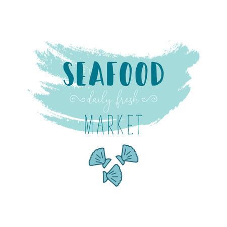 Hand Drawn Doodle Sketch Seafood illustration