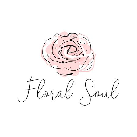 Diseño de borde romántico con flor de strelizia tropical abstracta sobre fondo de forma de corazón rosa pastel rubor. Ideal para bodas, invitaciones, compromisos, despedidas de soltera, cumpleaños, aniversarios, invitaciones.
