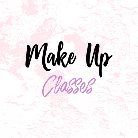 Make up artist banner, header or business card template with pastel blush texture.