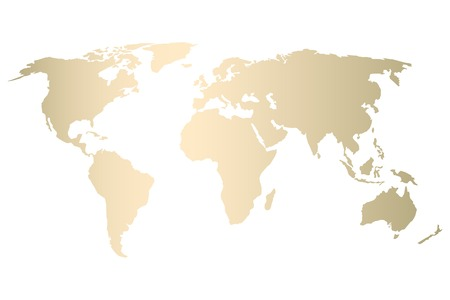 Modern gold world map design . Vector Trendy design Standard-Bild - 104027215