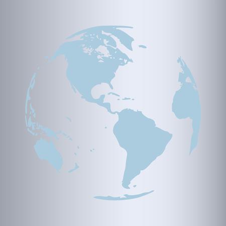 Modern gold world globe symbol design on pastel . Vector Trendy design
