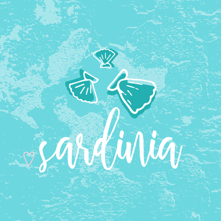 Sardinia Hand Drawn Doodle Sketch Seafood illustration. Nautical background for seafood or fish restaurants, bars, markets or festivals. Vector template