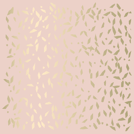 Trendy Chic Pastel colored background with Gold Foil geometric shapes. Abstract unusual textures for wallpaper, wedding invitation cards, business cards, fashion headers, decoration elements. Vector