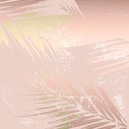 Feuillage abstrait automne fond de fard à joues or rose. Imprimé tendance chic avec des motifs botaniques