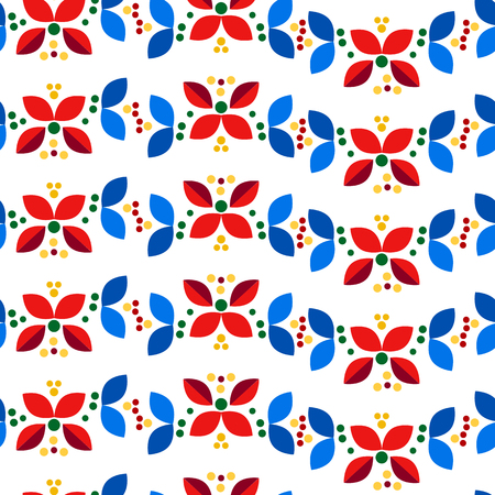 Floral seamless pattern in nordic minimal scandinavian style for wallpaper, wrapping paper, textile, etc