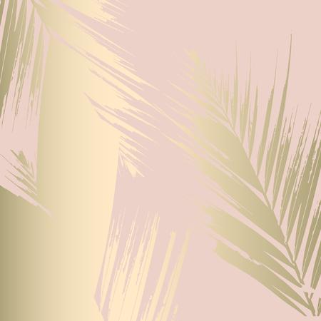 Herfst abstract gebladerte rose goud blozen achtergrond. Chique trendy print met botanische motieven